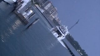 Actual Footage - Stolen Yacht (Hattears 80 MIMI) Sinks At Miami Beach Marina