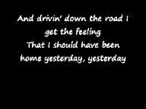 John Denver country roads lyrics .