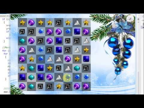 Let's make 16 games in C++:  Bejeweled (Match-3)