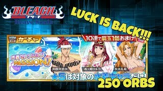 Bleach Brave Souls: Swimsuit Selection PASSION! Summons - 250 Orbs