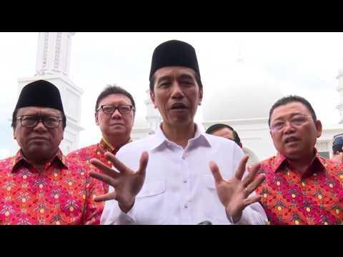 Presiden Joko Widodo Meresmikan Masjid Agung Oesman Al Khair.