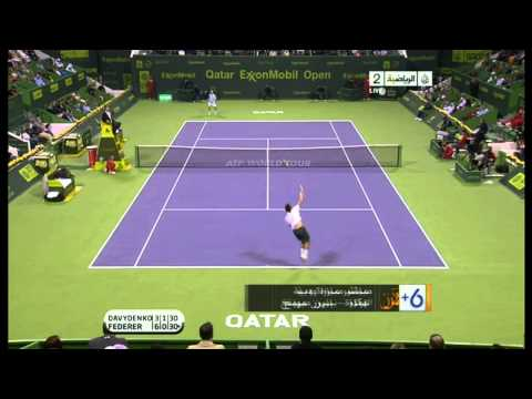 Federer VS Davydenko Doha Qatar Open 2011 Final HIGHLIGHTS 63 64