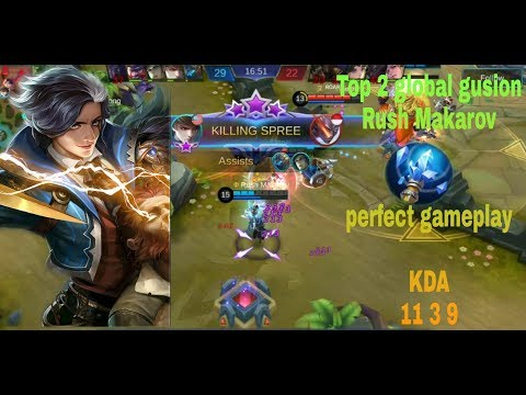 Gusion Perfect Gameplay By Rush Makarov    Global 2 Guison   Mobile Legend