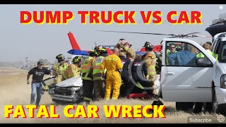 car vs. double dump truck on hwy 34 east of greeley, co