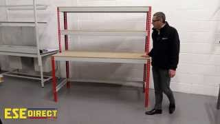 Just Workbench With Top Shelves Product Demonstration