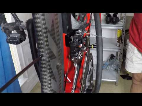 cable routing and tension Dura Ace 9100 front deraileur