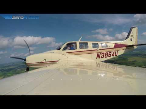 Airventure Arrival In John Glenn's Baron - MzeroA Flight Training