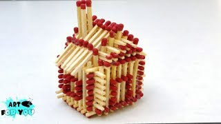 How to make Match sticks House Without Glue | Matchstick models