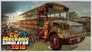 Car Mechanic Simulator 2018 - Junkyard Rescue Drag School Bus | Ep. 28