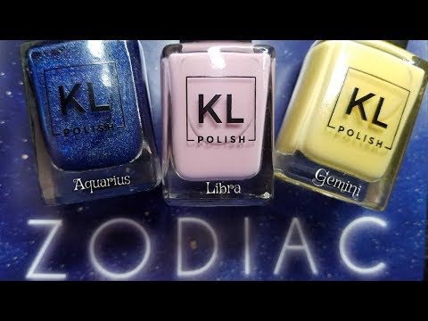KL POLISH ZODIAC COLLECTION | AIR SIGNS | Swatch, Review &Comparisons