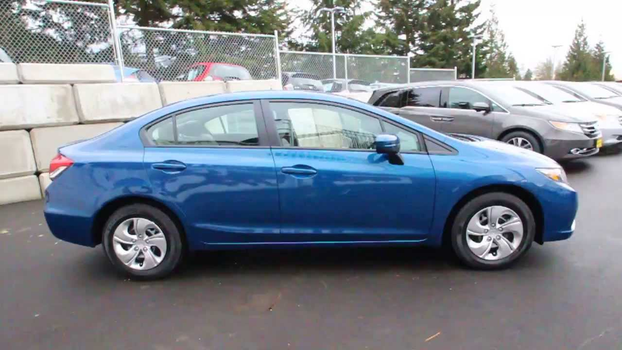 2014 Honda Civic LX | Dyno Blue | EE202023 | Seattle | Renton - YouTube