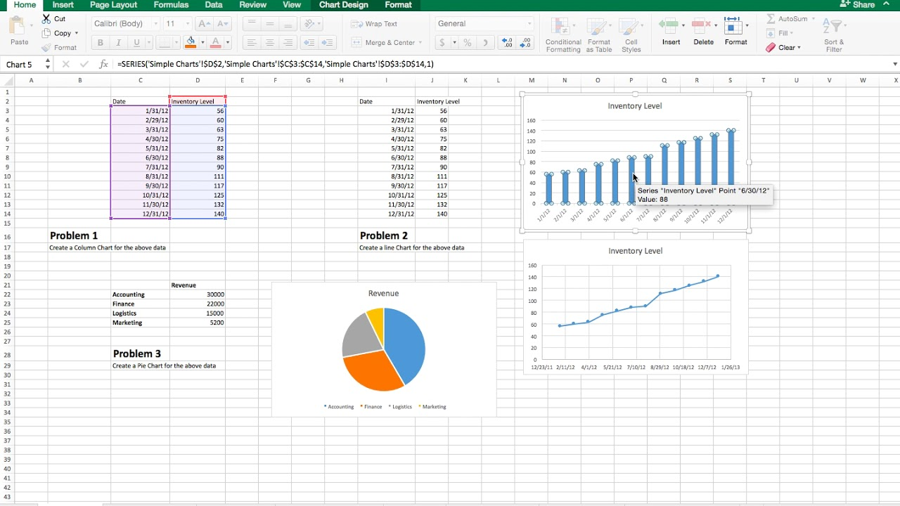 Excel Charts Color Easy Prt 1b Change Color On A Charge Youtube