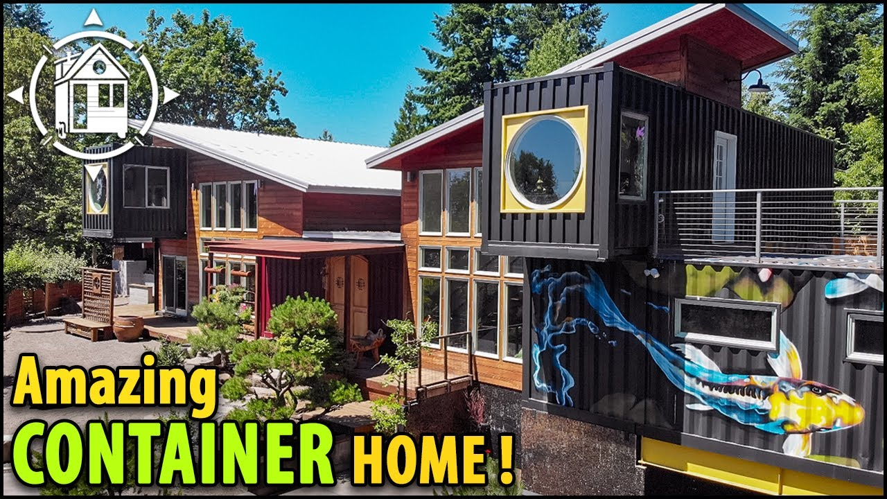 IS THIS THE BEST CONTAINER HOME EVER? Made w/ 11 Containers