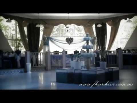 Бело-голубое оформление в ресторане Айше, Симферополь