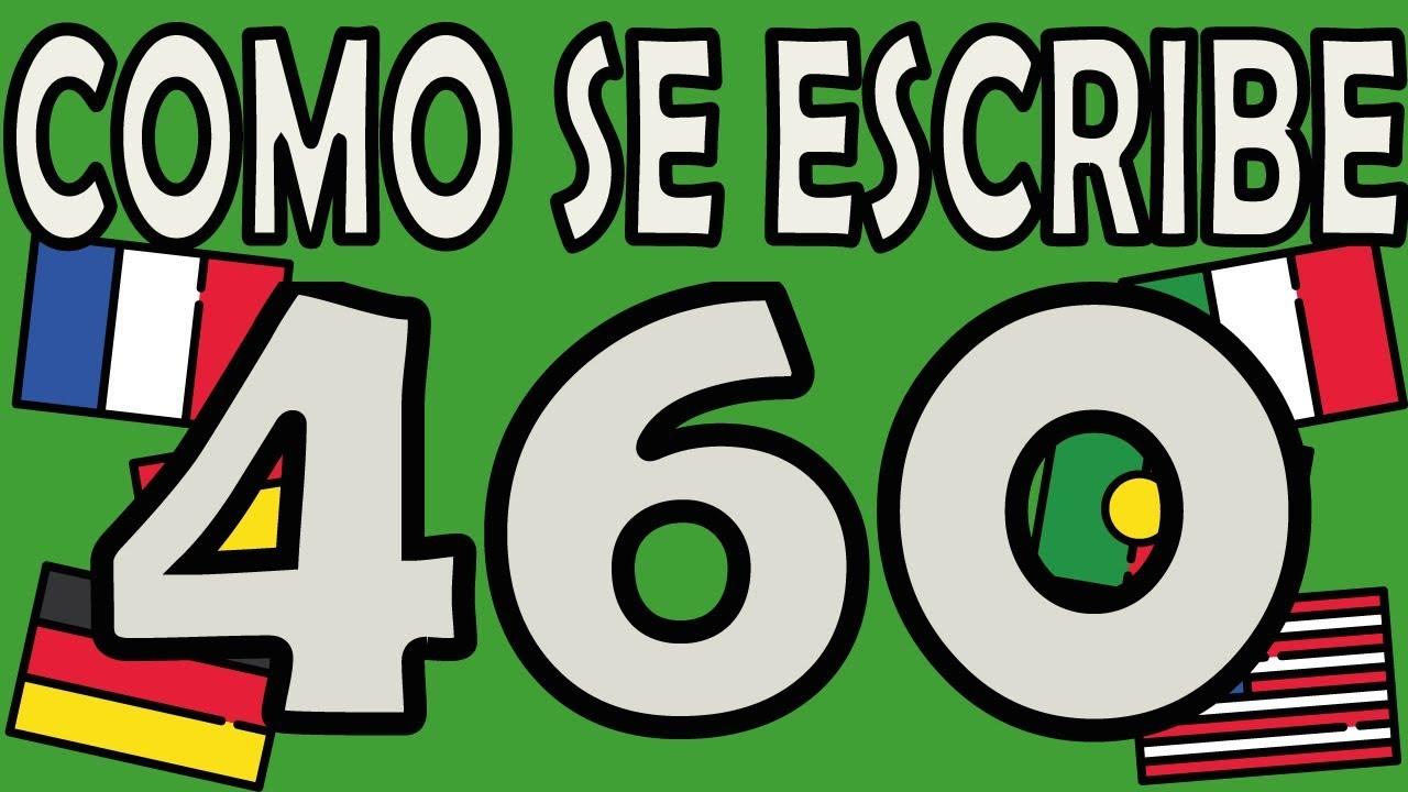 Como Se Escribe 91 En Numeros Romanos como se escribe el número 460 - youtube