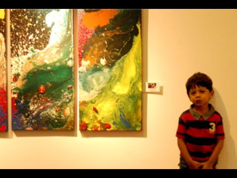 Two Year old Artist Advait Kolarkar brushed his first solo exhibition