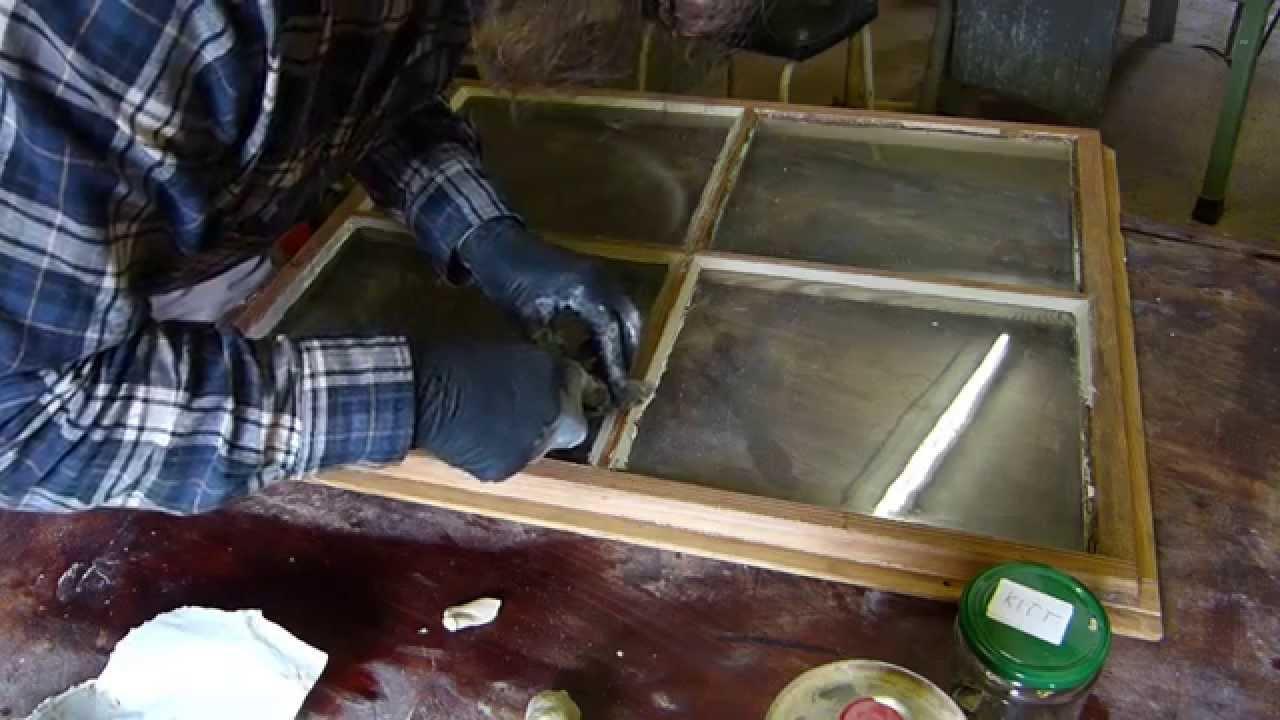 Berühmt Altes Fenster kitten, Fensterkitt selber herstellen - YouTube OZ09