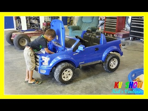 Thumbnail: Kruz Fixing The Power Wheel Ride On Ford F-150 (Changing The Battery)