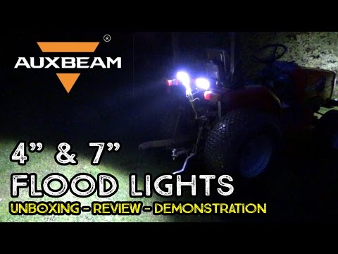 "Auxbeam 4"" and 7"" LED Flood Light Bars 