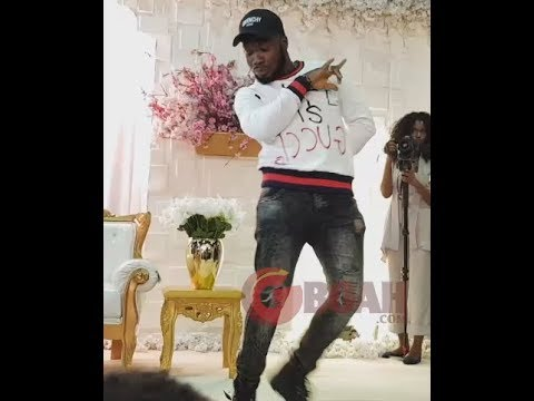 "Shaku Shaku! Everyone Went Gaga As Slimcase Comes To Perform For Oba Elegushi""s Brother &His Wife"
