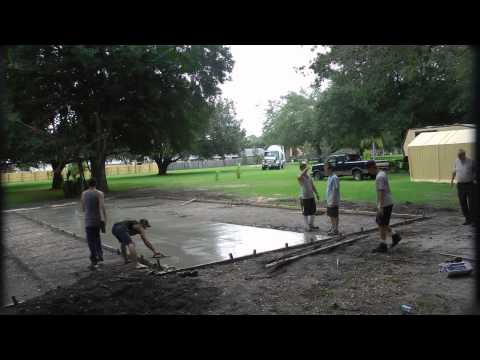 """Loving Hands' """"Basketball Court Project"""" - First Concrete Pour of 18 yds"""