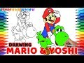 Drawing Super Mario Odyssey, Mario & Yoshi #108 | Drawing Coloring Pages for Kids
