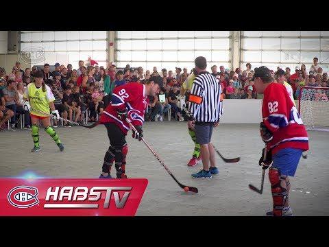 Match amical de hockey-balle à la Coupe Rogers