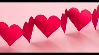 DIY Crafts - Paper Heart Design Valentine