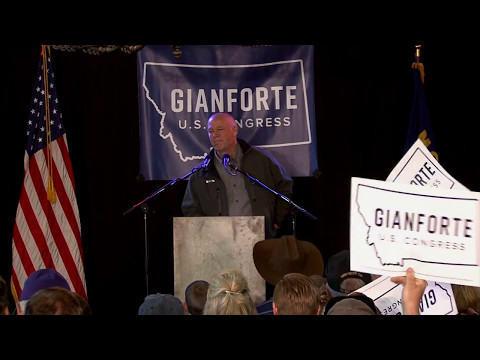 Greg Gianforte campaign rally with Donald Trump Jr.