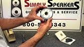 JBL 2412, 2412H, 2412H-1 Diaphragm Installation Video - YouTube