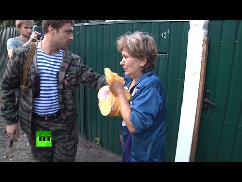Ополченцы доставляют в Иловайск гуманитарную помощь