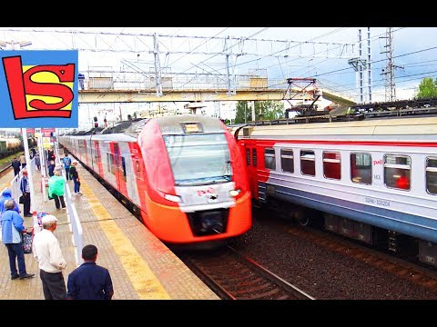 Скоростные поезда на станции стриж ласточка электрички товарные поезда видео