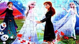 Анна и Эльза всегда вместе собираем пазлы для детей с героями мультика Холодное Сердце 2 | Frozen 2
