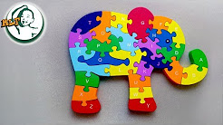 Learn a to z with Elephant Puzzle