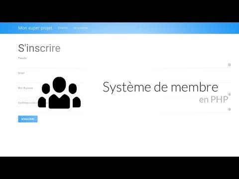 Tutoriel PHP : Gestion D'un Espace Membre