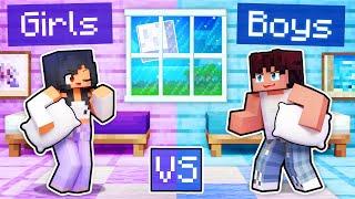 My GIRLS vs BOYS Sleepover In Minecraft!