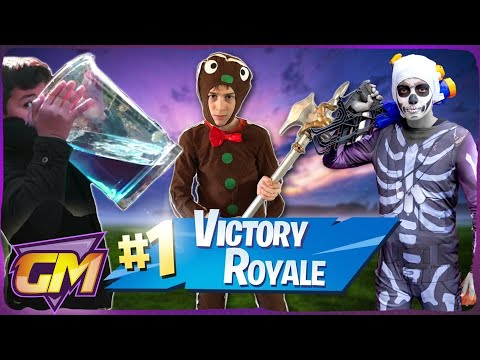 Fortnite Battle Royale In Real Life!! - Kids Parody