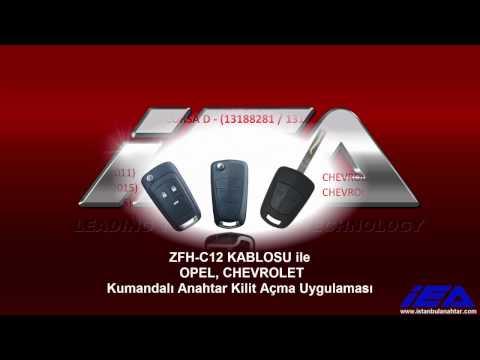 OPEL- CHEVROLET (PCF79XX) Kumandalı Anahtar Kilit Açma Uygulaması (ZFH-C12 Kablosu Kullanarak)