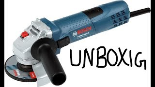Bosch GWS 600 Professional Angle Grinder unboxing