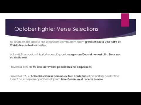 October Fighter Verses