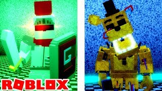 Gallant Gaming Animatronic and Withered Golden Freddy in Roblox Fazbear's Reborn