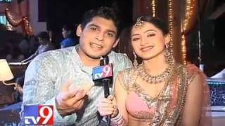 Veer and Ayesha On The Sets of JPSYA 10 Sep [TV9Gujrat]
