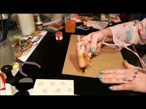 Tutorial: How To Make Stamps and Texture with Hot Glue!