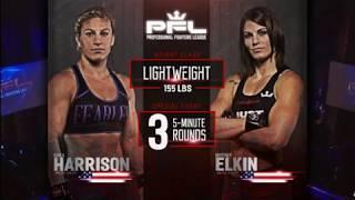 Kayla Harrison vs Brittany Elkins PFL.  Kayla Harrison Pro Debut