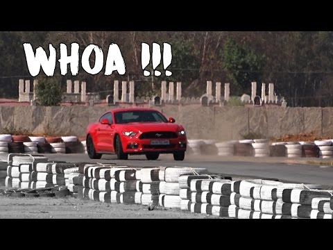 Power-sliding in Mustang on track in Bangalore | #128