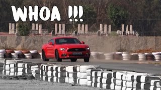 Power sliding in Mustang on track in Bangalore | #128