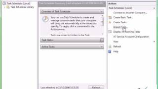 Using the Windows Vista Task Scheduler