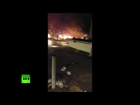 Sweden Rinkeby riots: Cars on fire as violence erupts in Stockholm suburb