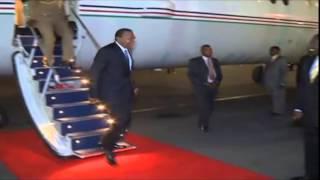 How President Kenyatta Landed From Algiers
