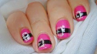 Diseño de uñas Mamá Noel / Nail art design Mrs. Claus